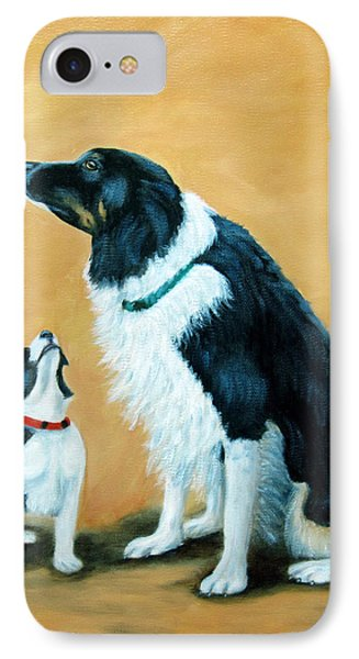 IPhone Case featuring the painting Sammy And Breagh by Fran Brooks