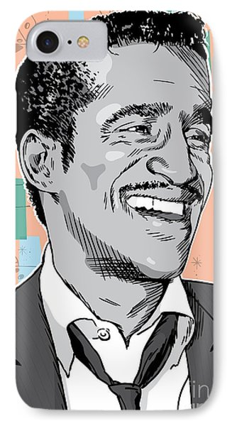 Sammy Davis Jr Pop Art IPhone Case by Jim Zahniser