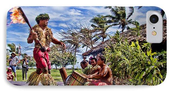 Samoan Torch Bearer IPhone Case by David Smith