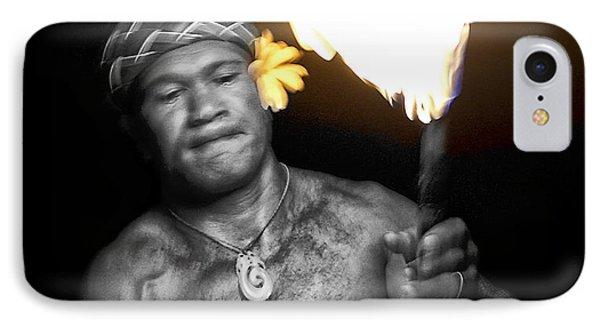 Samoan Warrior Fire Dance - Hawaii IPhone Case by Daniel Hagerman
