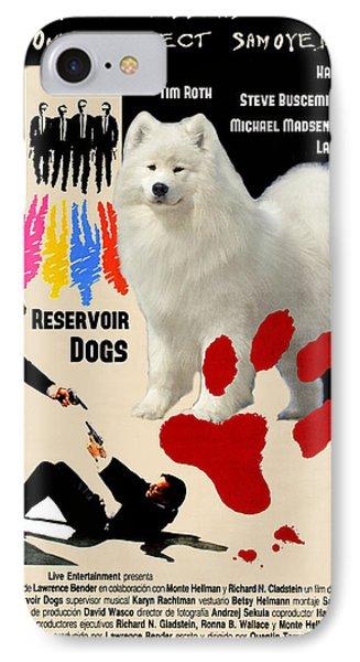 Samoyed Art Canvas Print - Reservoir Dogs Movie Poster IPhone Case by Sandra Sij