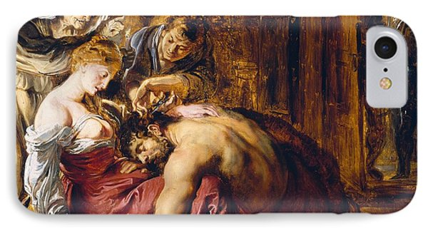 Samson And Delilah, C.1609 Oil On Panel IPhone Case by Peter Paul Rubens