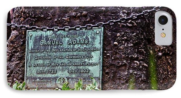Samuel Adams Grave  IPhone Case by John McGraw