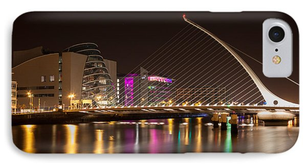 Samuel Beckett Bridge In Dublin City IPhone Case by Semmick Photo