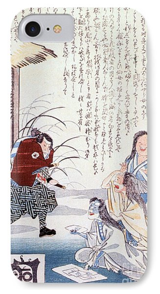 Samurai Cures Measles With Talismans Phone Case by Science Source