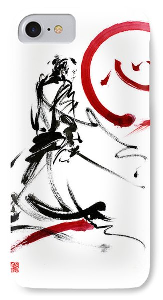 Samurai Enso Circle Wild Fury Bushi Bushido Martial Arts Sumi-e  IPhone Case by Mariusz Szmerdt