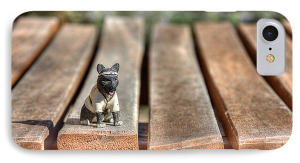 IPhone Case featuring the photograph Samurai Pooch by Dave Garner