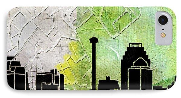 San Antonio 002 B IPhone Case by Corporate Art Task Force