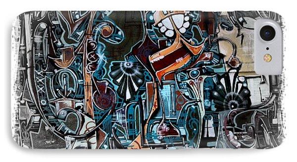 San Antonio Graffiti - No.8345 IPhone Case by Joe Finney