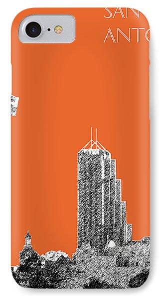 San Antonio Skyline - Coral IPhone Case