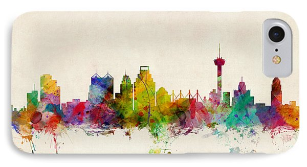 San Antonio Texas Skyline IPhone 7 Case by Michael Tompsett