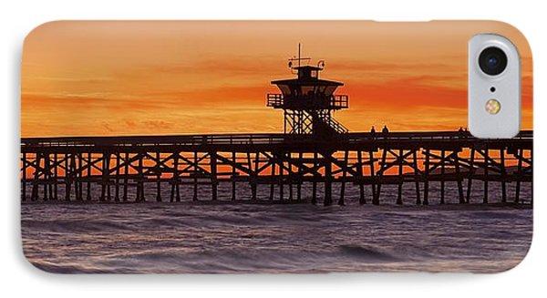 San Clemente Municipal Pier In Sunset Phone Case by Richard Cummins