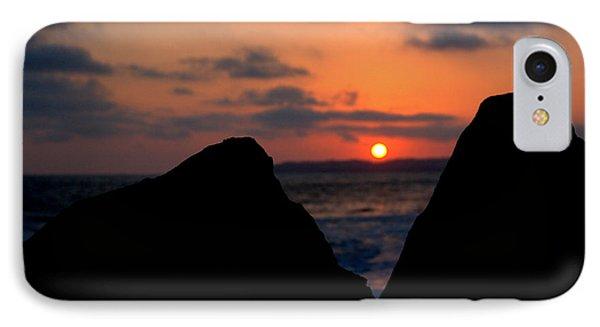 IPhone Case featuring the photograph San Clemente Rocks Sunset by Matt Harang