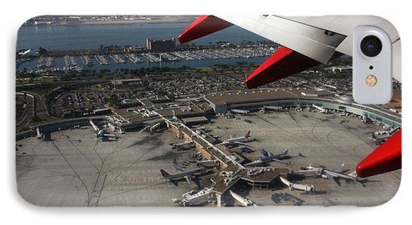 San Diego Airport Plane Wheel IPhone Case by Nathan Rupert
