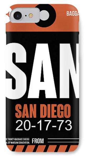 San Diego Airport Poster 3 IPhone Case