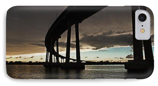 San Diego Bay Bridge IPhone Case by Russ Harris