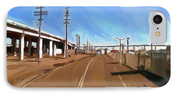 IPhone Case featuring the painting San Diego California Usa by Nop Briex