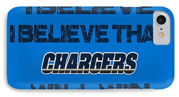San Diego Chargers I Believe IPhone Case