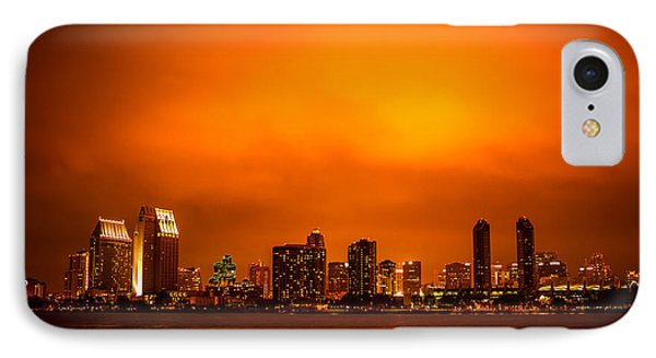 San Diego Cityscape At Night Phone Case by Paul Velgos