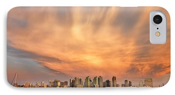 San Diego Cloud Burst Phone Case by Peter Tellone