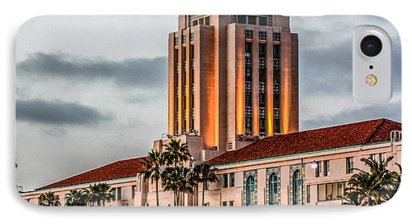 San Diego County Administration Center IPhone Case by Photographic Art by Russel Ray Photos