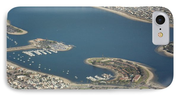 San Diego From Above IPhone Case by Val Oconnor