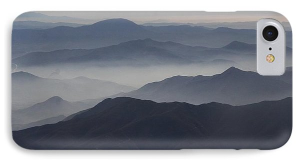 San Diego Hills In Fog And Haze Phone Case by Darleen Stry