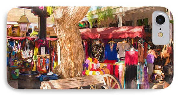 San Diego Old Town Market IPhone Case by JG Thompson