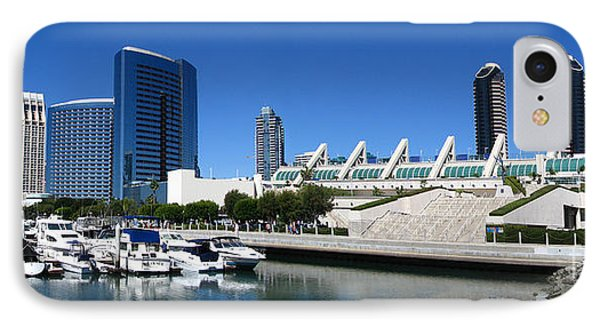 San Diego Panoramic View Phone Case by Bedros Awak