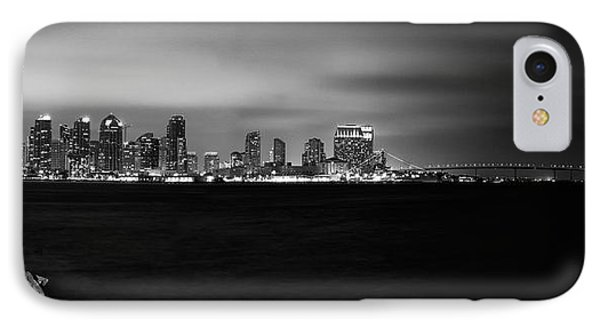 San Diego Skyline At Night IPhone Case by Tanya Harrison