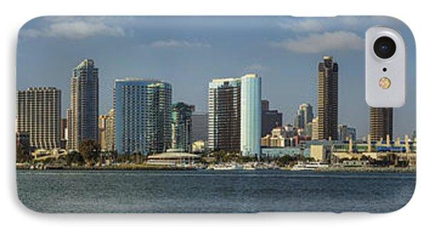 San Diego Skyline Daytime Panoramic Phone Case by Adam Romanowicz