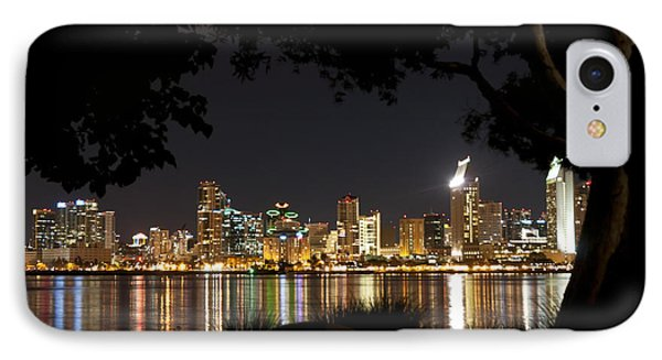 IPhone Case featuring the photograph San Diego Skyline Framed 1 by Lee Kirchhevel