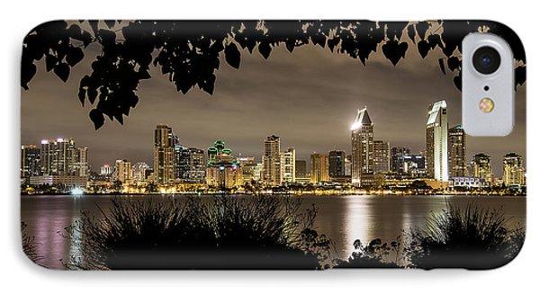 San Diego Skyline Framed 2 IPhone Case