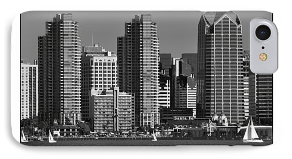 IPhone Case featuring the digital art San Diego Skyline by Kirt Tisdale