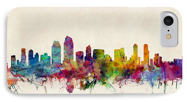 San Diego Skyline IPhone Case by Michael Tompsett