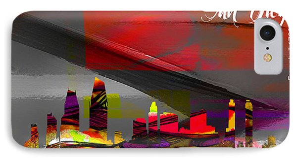 San Diego Skyline Watercolor IPhone Case by Marvin Blaine