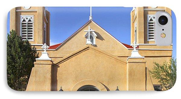 San Felipe Church - Old Town Albuquerque   Phone Case by Mike McGlothlen