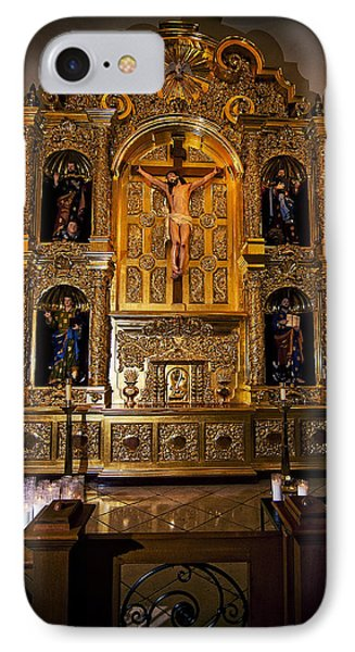 IPhone Case featuring the photograph San Fernando Cathedral Altar by Andy Crawford