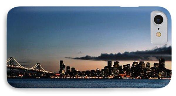 San Francisco And The Bay Bridge IPhone Case