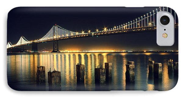 San Francisco Bay Bridge Illuminated IPhone Case by Jennifer Ramirez