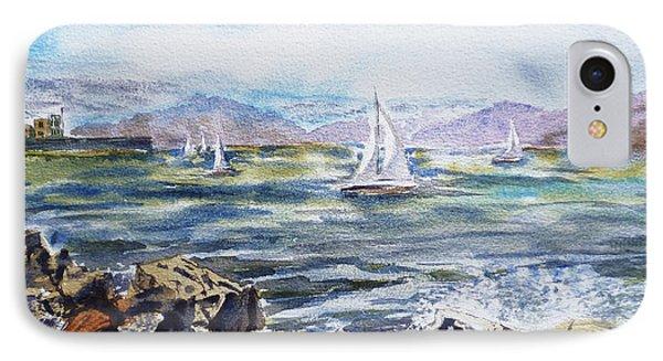 San Francisco Bay From Richmond Shore Line IPhone Case by Irina Sztukowski