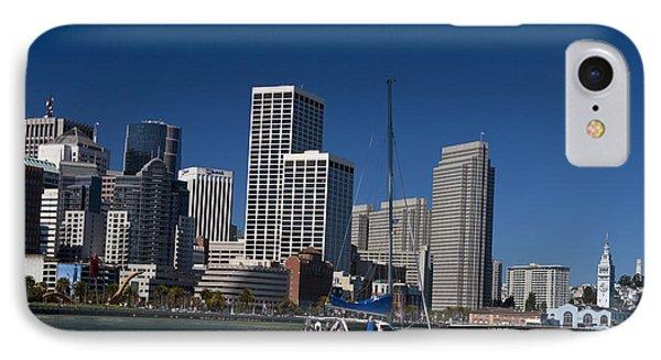 San Francisco Bay Sailboat Downtown IPhone Case by Jason O Watson