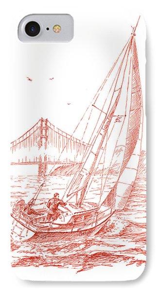San Francisco Bay Sailing To Golden Gate Bridge IPhone Case by Irina Sztukowski