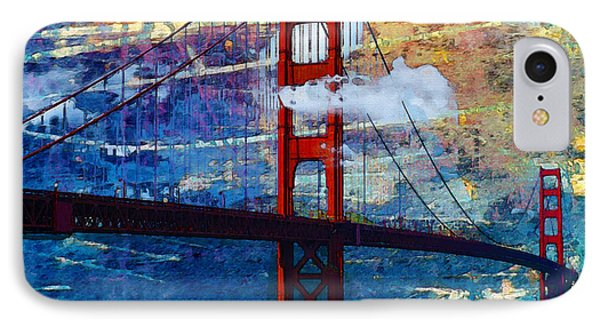 IPhone Case featuring the painting San Francisco Bridge by Robert Smith