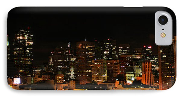 San Francisco By Night Phone Case by Cedric Darrigrand
