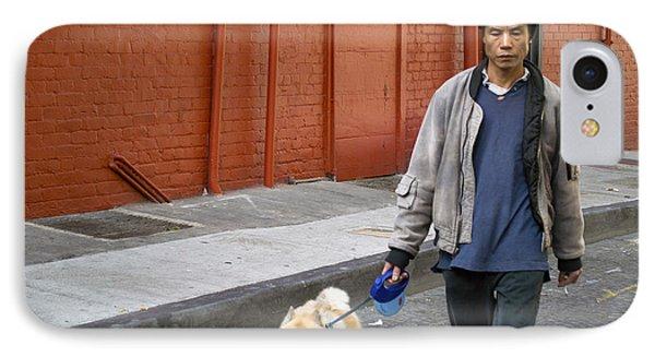 San Francisco Chinatown Dog Walker Phone Case by Christopher Winkler