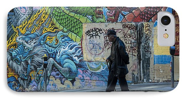 San Francisco Chinatown Street Art IPhone Case by Juli Scalzi