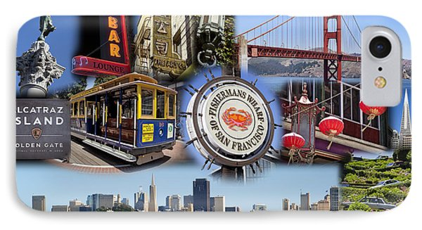 San Francisco Collage IPhone Case by Kelley King