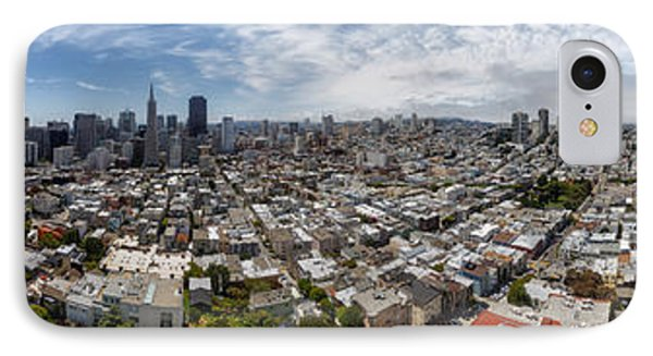 San Francisco Daytime Panoramic IPhone Case by Adam Romanowicz