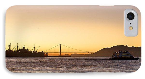 San Francisco Harbor Golden Gate Bridge At Sunset IPhone Case